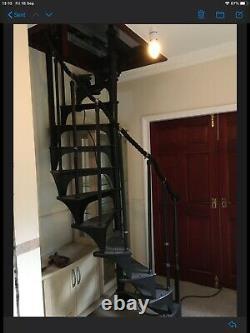 Original Victorian Cast Iron Spiral staircase 13 X Treads 10 X Spindles