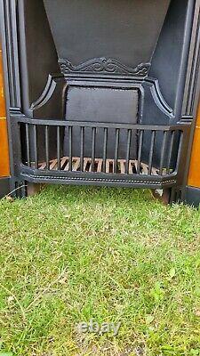 Original Victorian Cast Iron Tiled Combination Fireplace