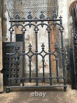 Original Victorian Cast iron pedestrian gate 850mm wide 1200mm high