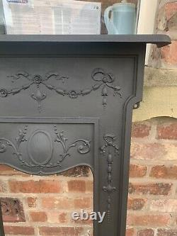 Original Victorian Restored Cast Iron Bedroom Fire Surround / Fireplace Arch