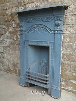Original Victorian cast iron fireplace antique combination fire surround Fire2