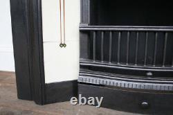 Original antique Edwardian Art Nouveau cast iron fireplace insert