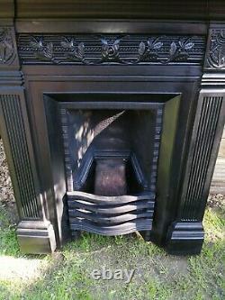 Original victorian cast iron fireplace