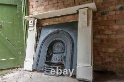 Original victorian cast iron fireplace with stone surround