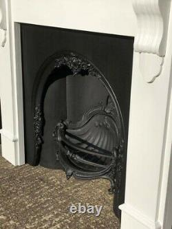 Outstanding Beautiful Quality Cast Iron Arched (FIREPLACE INSERT ONLY!)