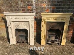 Pair Of Original Antique Victorian Cast Iron Fireplaces / Fire Surrounds