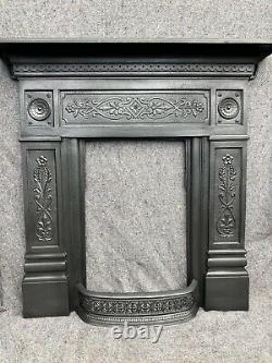 Pair Restored Antique Victorian / Edwardian Cast Iron Fire Surround / Fireplace