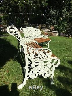 Pair of Antique Original Cast Coalbrookdale Bench Nasturtium Victorian Pattern
