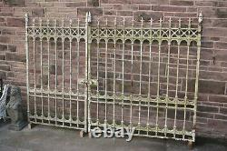 Pair of Exceptional Cast Iron Victorian Style Driveway / Entrance Gates
