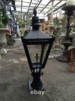 Pier Light Lantern Gate Post Lantern Victorian Style Black Lantern Cast Iron MED