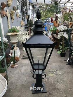 Pier lights, Gate post lanterns LARGE Victorian Style Black colour Lantern