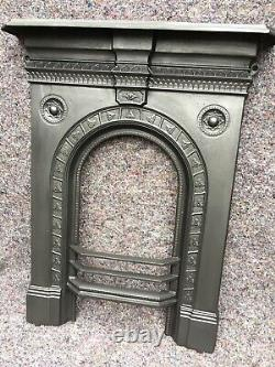 Pretty Antique Cast Iron Fire Surround Arched, Victorian, Uk Delivery