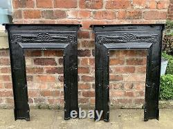 Price is each 1890s Victorian Restored Antique Cast Iron Bedroom Fire Surround