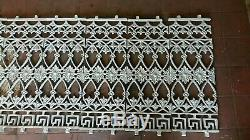Railings Cast Iron Ornate Old Antique 3.8m 13 Sections