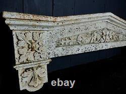 Reclaimed Antique Victorian Cast Iron Exterior Door Pediment