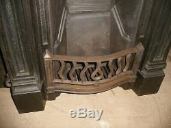 Reclaimed Victorian / art nouveau cast iron bedroom fireplace