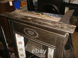 Reclaimed Victorian cast iron tiled fireplace