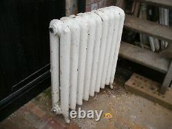 Reclaimed Victorian free standing two column cast iron radiator