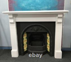 Refurbished Cast Iron Fireplace And Fire Surround DELIVERY FREE OR £35 Uk