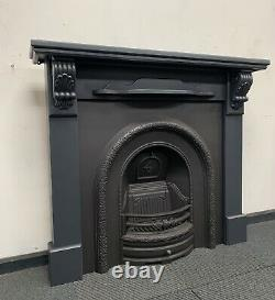 Refurbished Cast Iron Fireplace + Fire Surround DELIVERY FREE OR £35 Uk