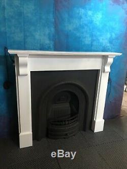 Refurbished cast iron fireplace and fire Surround Woodburner DE £35 UK