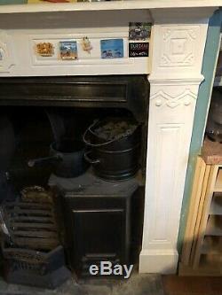 Restoration project Antique Cast Iron Victorian Kitchen Range Includes Surround