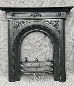Restored Antique Cast Iron Fire Surround / Fireplace Arched, Victorian, Arched