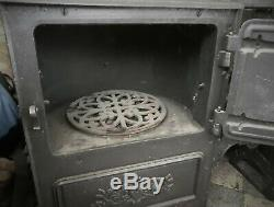 Restored Antique Cast Iron Victorian Kitchen Cooking Range Fireplace Hob