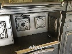Restored Antique Cast Iron Victorian Kitchen Cooking Range Fireplace Hob (LG039)