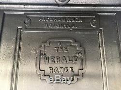 Restored Antique Cast Iron Victorian Kitchen Cooking Range Fireplace Hob (LG055)