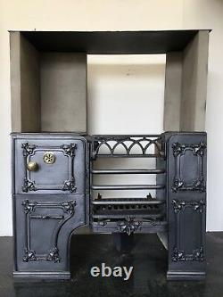 Restored Antique Cast Iron Victorian Kitchen Cooking Range Fireplace Hob (TA511)