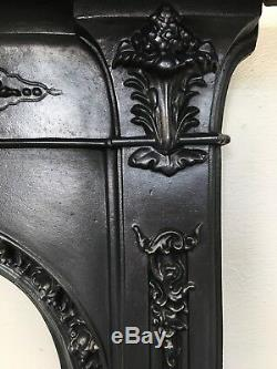 Restored Antique Style Cast Iron Victorian Fireplace Small Bedroom (TA350)