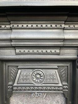 Restored Antique Victorian / Edwardian Cast Iron Fire Surround / Fireplace