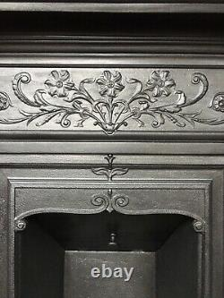 Restored Antique Victorian / Edwardian Cast Iron Fireplace / Fire Surround