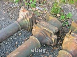 SET OF 4 VICTORIAN CAST IRON COLUMNS STANCHIONS PILLARS 4mtrs LONG VERY STRONG