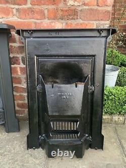 Semi-Complete Original Victorian Restored Antique Cast Iron Bedroom Fireplace