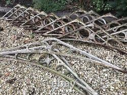 Set Of 18 Victorian Antique Cast Iron GreenHouse Conservatory Brackets Arches