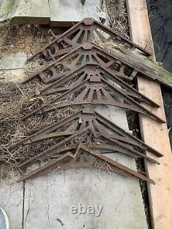 Set of 4 Large Victorian Cast Iron Greenhouse Roof Brackets 13 Cast Side Bracket