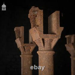 Set of 5 Victorian Cast Iron Columns Pillars Stanchions
