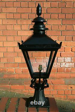 Small Traditional Black Victorian Lantern with cast iron base 4723S