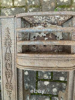 Small Vintage Cast Iron Fire Place Original Unrestored Barn Condition