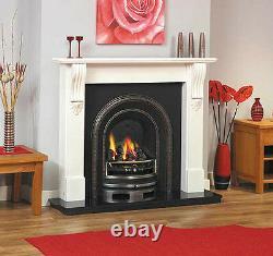 Solid Fuel Victorian Edwardian Georgian Cast Iron Wood Coal Fireplace Surround