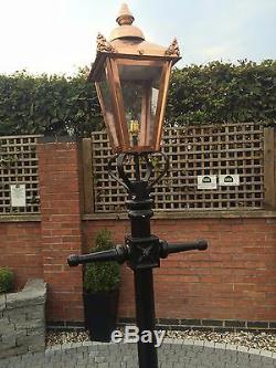 Street Style Lighting, Lamp post with Copper top, Victorian Lighting, Driveway