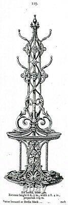 Stunning Antique Coalbrookdale cast iron Hall stand / umbrella stick stand c1850