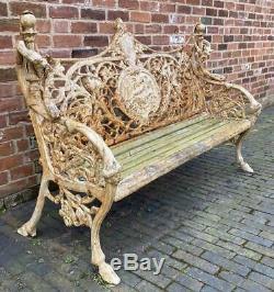 Stunning Cast Iron Garden Bench Victorian Antique Reproduction Best on eBay