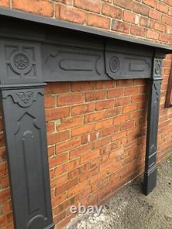 Tall Georgian cast iron fire Surround / wood burner DELIVERY FREE OR £35 Uk