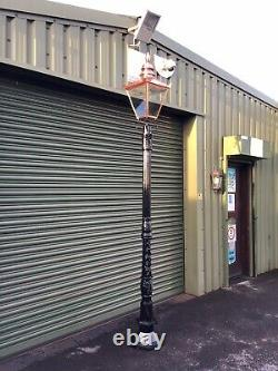 Tall Victorian cast iron lamp post and top. Very Few Left In stock
