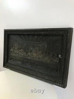The Last Supper Museum Grade Coalbrookdale Cast Iron Wall Plaque Circa 1850