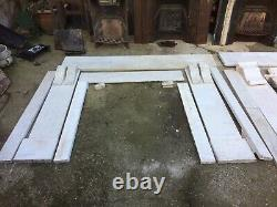 Two Victorian Marble Fire Surrounds & 5 Cast Iron Inserts