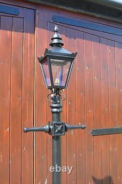 USED Ex-Display 2.2m Victorian Lamp Post + Lantern Reclaimed Garden Lighting Set